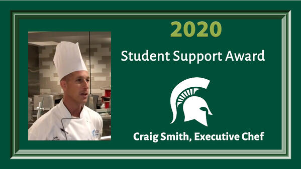 Craig Smith - MSU Student Support Award