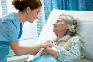 elderly woman patient care