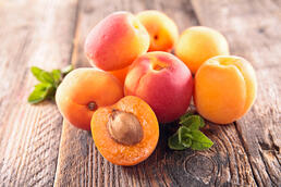apricots on wood