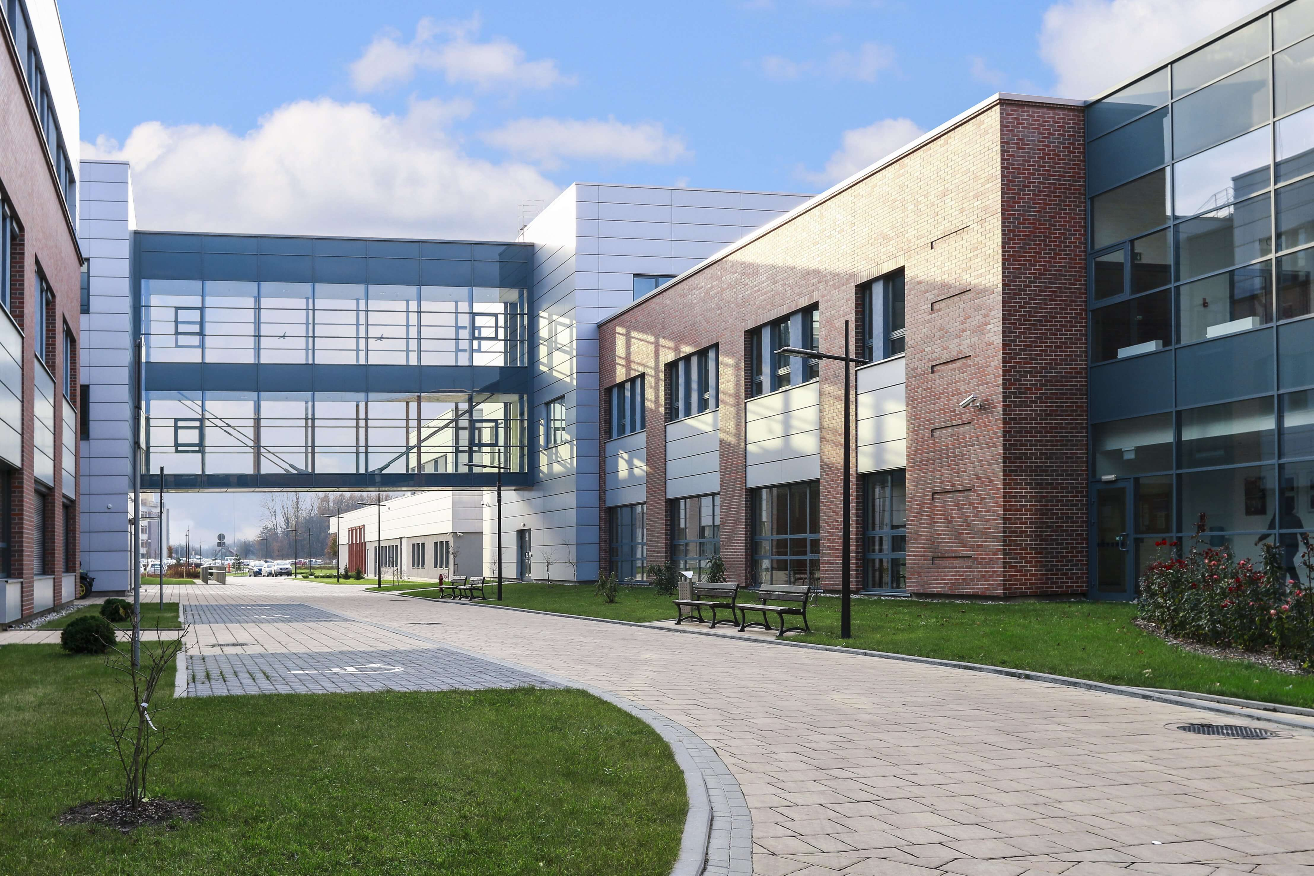 college building outside path-compressed