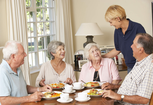 elderly group breakfast-for blog