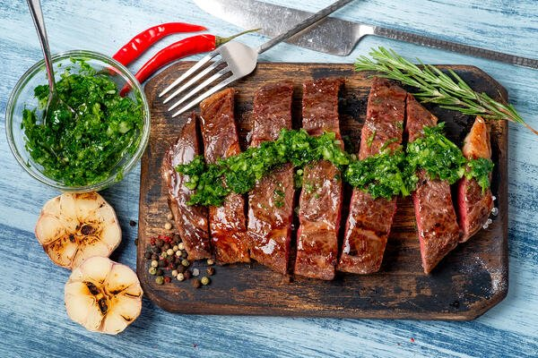 steak with chimichurri