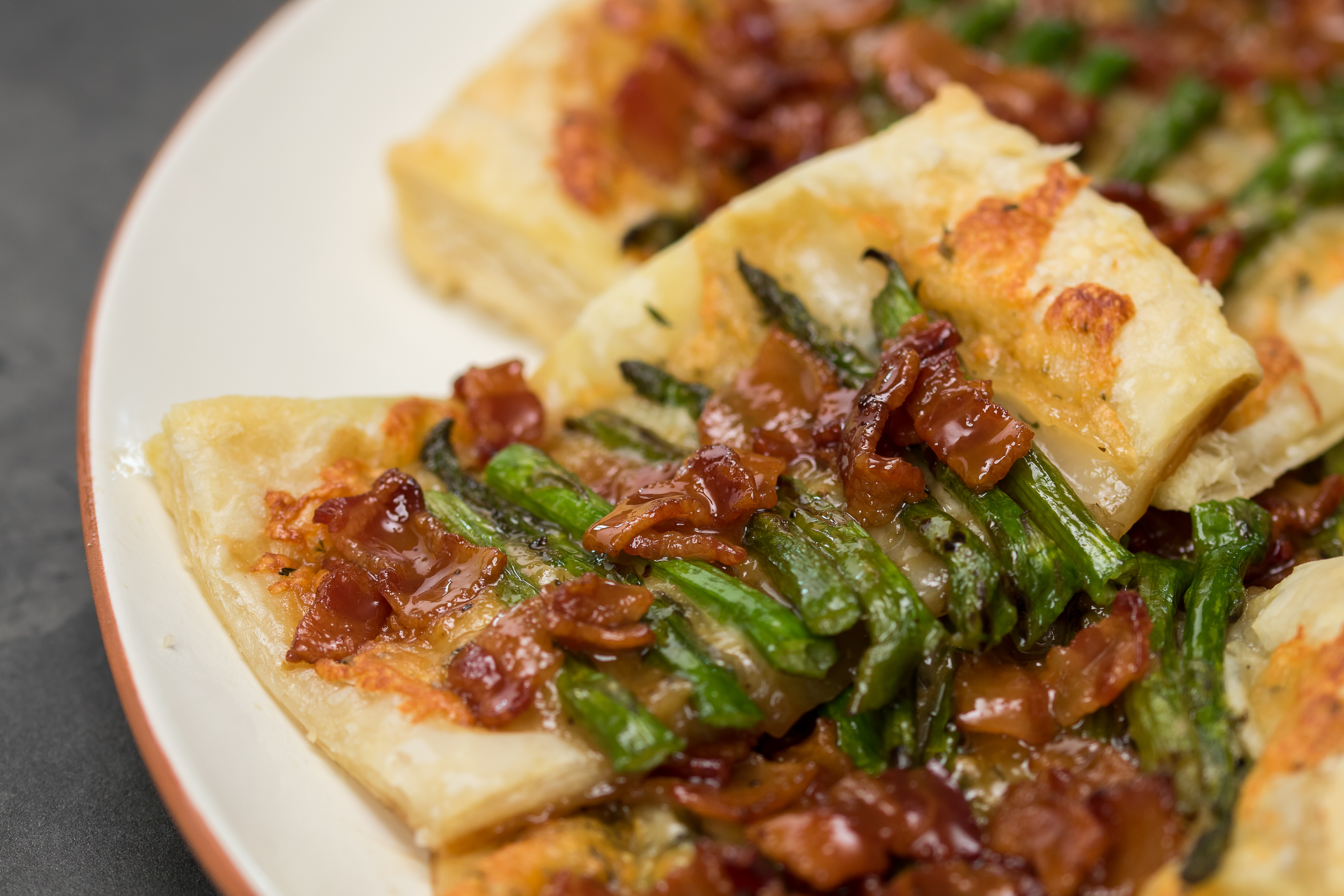 Bacon Asparagus Gruyere Tart 1